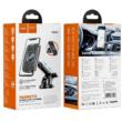 Autós tartó, Hoco CA75, mágneses autós tartó, szélvédőre, szellőzőrácsra, wireless töltéssel, 15W, fekete, bliszteres