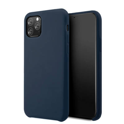Tok, erősített szilikon hátlap, Apple Iphone 7 / 8 / SE (2020), sötétkék
