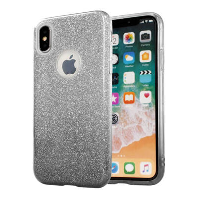 """Tok, Shining, Apple Iphone 11 Pro (5,8""""), szilikon hátlapvédő, 3 részes, fekete átmenetes"""