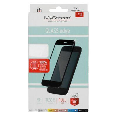 Képernyővédő, ütésálló üvegfólia, MyScreen Lite, Apple Iphone XR / 11, full size 5D, fekete