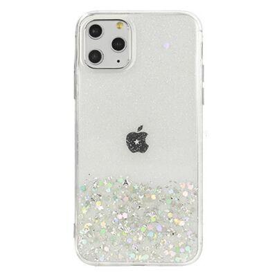 """Tok, Brilliant, Apple Iphone 12 / 12 Pro (6,1""""), csillogó hátlapvédő, szilikon kerettel, átlátszó"""