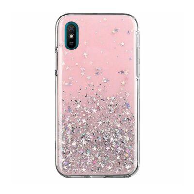 """Tok, Brilliant, Apple Iphone 13 (6,1""""), csillogó hátlapvédő, szilikon kerettel, rózsaszín"""