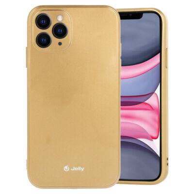 """Tok, Jelly, szilikon hátlap, (csillámporos), Apple Iphone 12 Mini (5,4""""), arany, bliszteres"""