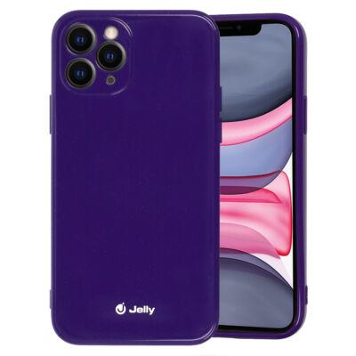 Tok, Jelly, szilikon hátlap, (csillámporos), Apple Iphone 12 / 12 Pro (6,1˝), lila, bliszteres