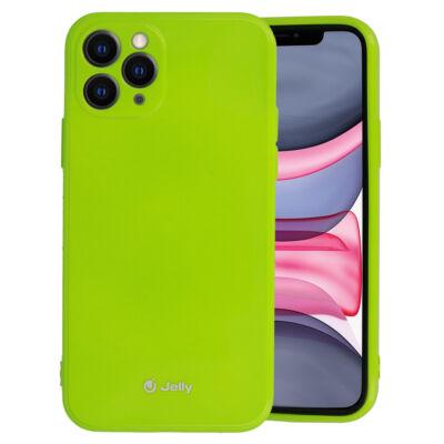 Tok, Jelly, szilikon hátlap, (csillámporos), Apple Iphone 11 (6,1˝), lime zöld, bliszteres