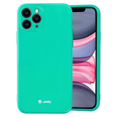 Tok, Jelly, szilikon hátlap, (csillámporos), Apple Iphone 11 (6,1˝), menta zöld, bliszteres