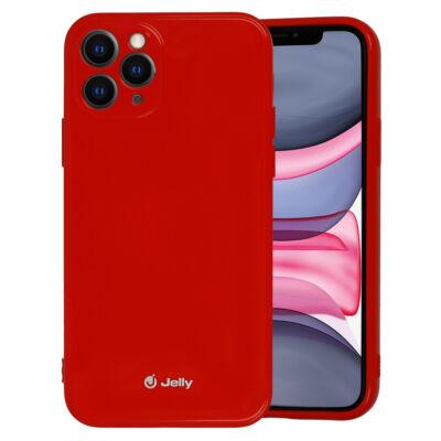 Tok, Jelly, szilikon hátlap, (csillámporos), Apple Iphone 12 / 12 Pro (6,1˝), piros, bliszteres