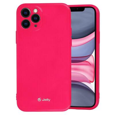Tok, Jelly, szilikon hátlap, (csillámporos), Apple Iphone 7 / 8 / SE (2020), rózsaszín, bliszteres