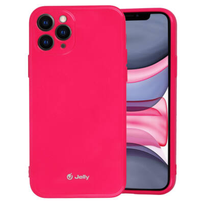 Tok, Jelly, szilikon hátlap, (csillámporos), Apple Iphone 12 / 12 Pro (6,1˝), rózsaszín, bliszteres