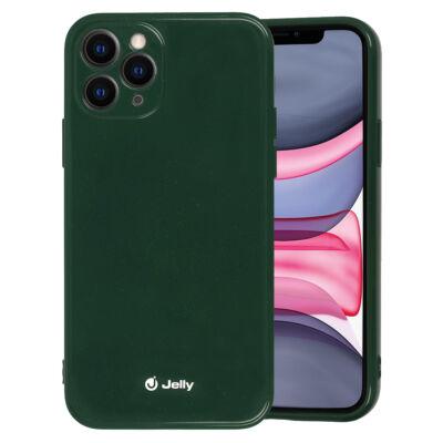 Tok, Jelly, szilikon hátlap, (csillámporos), Apple Iphone 12 / 12 Pro (6,1˝), sötétzöld, bliszteres
