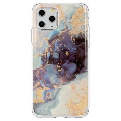 """Tok, Marble Glitter, mintás hátlap, szilikon kerettel, Apple Iphone 11 (6,1""""), minta 3"""