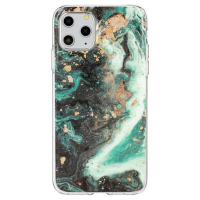 """Tok, Marble Glitter, mintás hátlap, szilikon kerettel, Apple Iphone 11 (6,1""""), minta 4"""