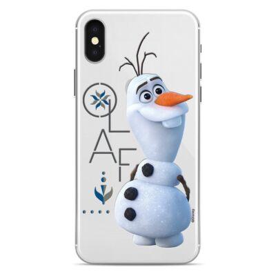 Szilikon tok, Apple Iphone 7 / 8 / SE (2020), Disney, mintás hátlap, minta 8 (Olaf)