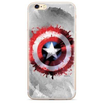 Szilikon tok, Apple Iphone 7 / 8 / SE (2020), Marvel, mintás hátlap, minta 019 (Captain America 2)