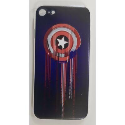 """Szilikon tok, Apple Iphone 11 (6,1""""), Marvel, mintás hátlap, minta 017 (Captain America Shield)"""