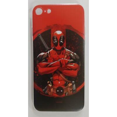 """Szilikon tok, Apple Iphone 11 Pro (5,8""""), Marvel, mintás hátlap, minta 006 (Deadpool)"""