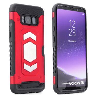 Tok, Magnet, ütésálló mágneses hátlap, szilikon kerettel, Apple Iphone 7 / 8 / SE (2020), piros