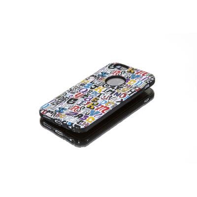 Tok, Foszforeszkálós, betű mintás, kemény hátlap, szilikon kerettel, Samsung Galaxy S7, fehér