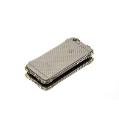 Tok, Ginger, ütésálló szilikon tok, Samsung Galaxy S6 Edge, áttetsző arany