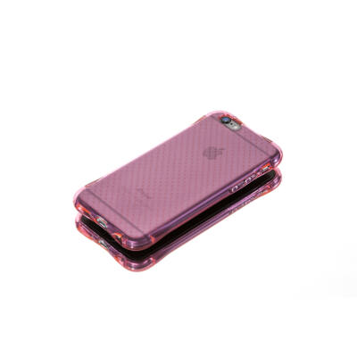 Tok, Ginger, ütésálló szilikon tok, Samsung Galaxy A3 (2016) A310, áttetsző rózsaszín