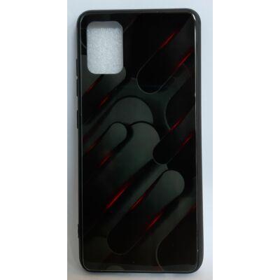 Tok, Glass, mintás üveg hátlap, szilikon kerettel, Apple Iphone 7 / 8 / SE (2020), minta 7 (fekete-szürke)