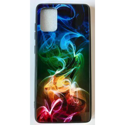 Tok, Glass, mintás üveg hátlap, szilikon kerettel, Apple Iphone 7 / 8 / SE (2020), minta 6 (színes füst)