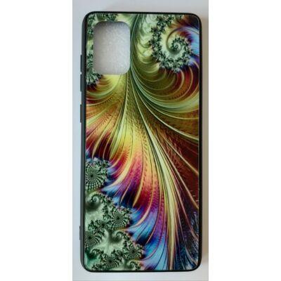 """Tok, Glass, mintás üveg hátlap, szilikon kerettel, Apple Iphone 11 Pro (5,8""""), minta 5 (színes toll)"""