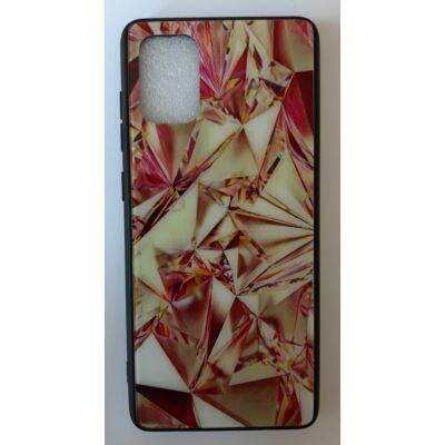 """Tok, Glass, mintás üveg hátlap, szilikon kerettel, Apple Iphone 11 (6,1""""), minta 4 (rózsaszín geometrikus)"""