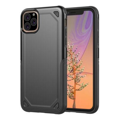 """Tok, Hybrid Armor aluminium hátlap, szilikon kerettel, Apple Iphone 11 (6,1""""), fekete"""