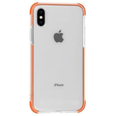 Tok, Summer szilikon hátlap, Apple Iphone 7 / 8 / SE (2020), átlátszó, narancssárga kerettel