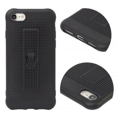 Tok, Vent, ujjtartós, szilikon hátlap, Apple Iphone 7 / 8 / SE (2020), fekete