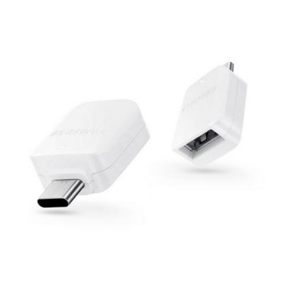 Adapter, Samsung, OTG, Type-C átalakító adapter, fehér, gyári, csomagolás nélküli