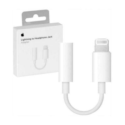 Apple iPhone lightning-adapter 3,5 mm-es fejhallgató-csatlakozóhoz, /MMX62ZM/A/, gyári, bliszteres