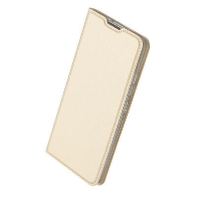 """Tok, Dux Ducis Skin Pro, oldalra nyíló mágneses műbőr flip tok, Apple Iphone 12 Mini (5,4""""), arany, (szilikon belsővel), bliszteres"""