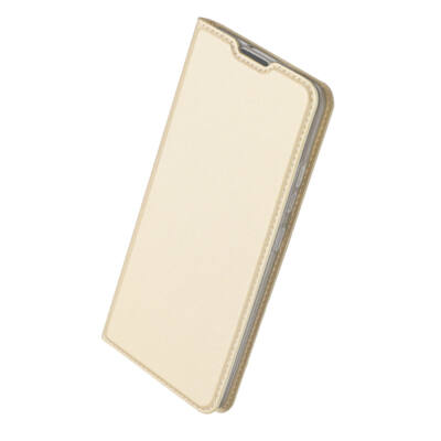 Tok, Dux Ducis Skin Pro, oldalra nyíló mágneses műbőr flip tok, Apple Iphone 7 / 8 / SE (2020), arany, (szilikon belsővel), bliszteres