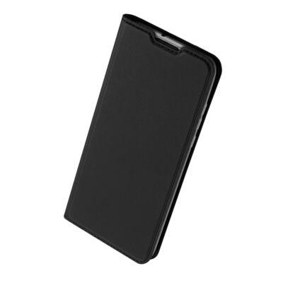 """Tok, Dux Ducis Skin Pro, oldalra nyíló mágneses műbőr flip tok, Apple Iphone 12 / 12 Pro (6,1""""), fekete, (szilikon belsővel), bliszteres"""