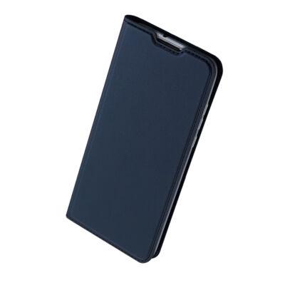 Tok, Dux Ducis Skin Pro, oldalra nyíló mágneses műbőr flip tok, Apple Iphone 7 / 8 / SE (2020), sötétkék, (szilikon belsővel), bliszteres