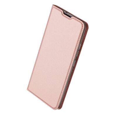 """Tok, Dux Ducis Skin Pro, oldalra nyíló mágneses műbőr flip tok, Apple Iphone 12 Pro Max (6,7""""), rose gold, (szilikon belsővel), bliszteres"""