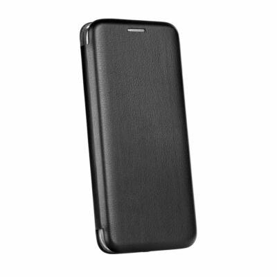Tok, Elegance, mágneses, oldalra nyíló műbőr flip tok, Samsung Galaxy A22 5G, fekete, (szilikon belsővel), csomagolás nélküli