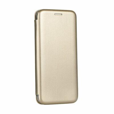 """Tok, Elegance, mágneses, oldalra nyíló műbőr flip tok, Apple Iphone 12 / 12 Pro (6,1""""), arany, (szilikon belsővel), csomagolás nélküli"""