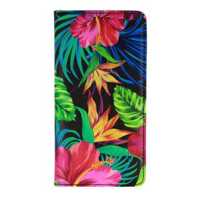 """Tok, Smart Flower, mágneses oldalra nyíló flip tok, Apple Iphone 13 Pro (6,1""""), minta 2, (szilikon belsővel), csomagolás nélküli"""