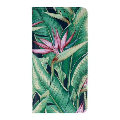"""Tok, Smart Flower, mágneses oldalra nyíló flip tok, Apple Iphone 12 / 12 Pro (6,1""""), minta 4, (szilikon belsővel), csomagolás nélküli"""