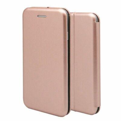 Tok, Elegance, mágneses, oldalra nyíló műbőr flip tok, Apple Iphone 7 / 8 / SE (2020), rose gold, (szilikon belsővel), csomagolás nélküli
