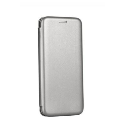 Tok, Elegance, mágneses, oldalra nyíló műbőr flip tok, Apple Iphone 7 / 8 / SE (2020), szürke, (szilikon belsővel), csomagolás nélküli