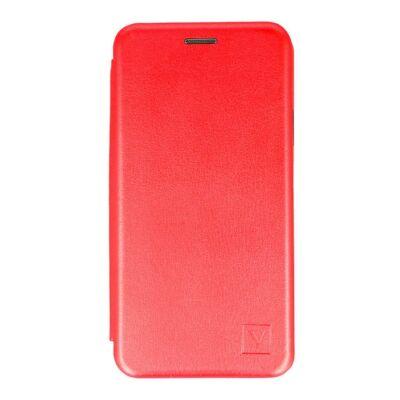 """Tok, Elegance, mágneses, oldalra nyíló műbőr flip tok, Apple Iphone 13 Pro Max (6,7""""), piros, (szilikon belsővel), csomagolás nélküli"""