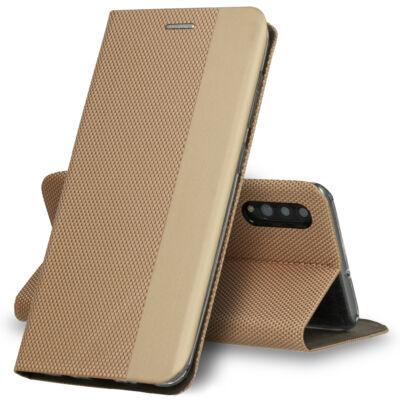 Tok, Sensitive, mágneses oldalra nyíló flip tok, Apple Iphone 7 / 8 / SE (2020), arany, (szilikon belsővel), csomagolás nélküli