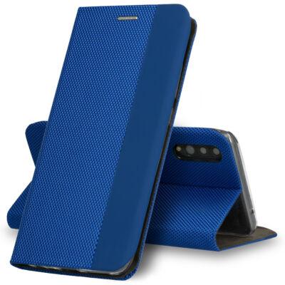 Tok, Sensitive, mágneses oldalra nyíló flip tok, Apple Iphone 7 / 8 / SE (2020), kék, (szilikon belsővel), csomagolás nélküli