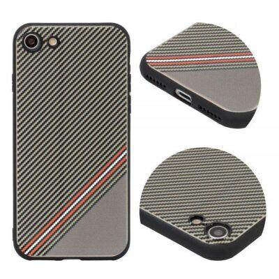 Tok, Grid, szilikon hátlap, Apple Iphone 7 / 8 / SE (2020), minta 1, barna