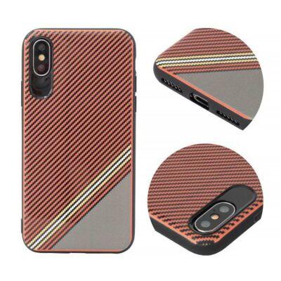 Tok, Grid, szilikon hátlap, Apple Iphone 7 / 8 / SE (2020), minta 1, piros