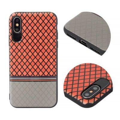 Tok, Grid, szilikon hátlap, Apple Iphone 7 / 8 / SE (2020), minta 2, piros